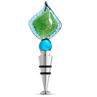 Aqua Leaf Bottle Stopper