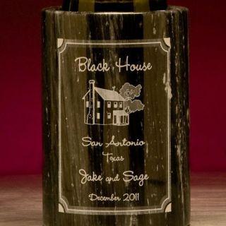 Engraved House Marble Bottle Cooler